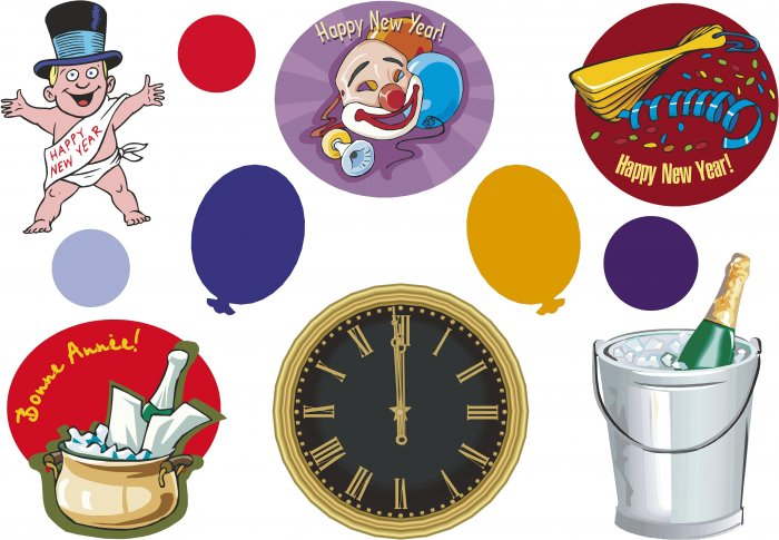 New Years Wall Decal Assortment Packs