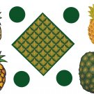 Pineapple Wall Decal Assortment Packs