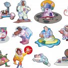Space Astronauts Realitistic Wall Decal Assortment Packs