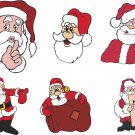 Santa Clause Christmas Wall Decal Assortment Packs