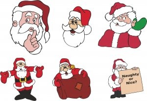 Santa Clause Christmas Wall Decal Assortment Packs