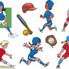 Softball Wall Decal Assortment Packs