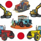 Tractors Wall Decal Assortment Packs