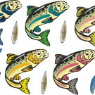 Trout Wall Decal Assortment Packs