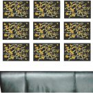 Abstract Yellow People Wall Decal Pattern Assortment Packs