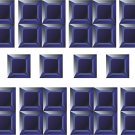 Squares Blue Black Wall Decal Pattern Assortment Packs