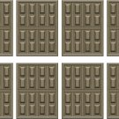 Wood Panel Door Wall Decal Pattern Assortment Packs