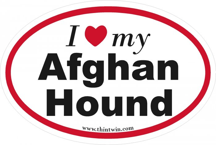 Afghan Hound Oval Car Sticker