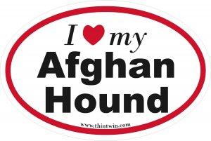 Afghan Hound Oval Car Sticker