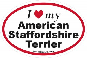 American Staffordshire Terrier Oval Car Sticker