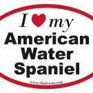 American Water Spaniel Oval Car Sticker