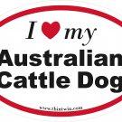 Australian Cattle Dog Oval Car Sticker