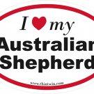 Australian Shepherd Oval Car Sticker