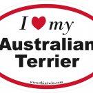 Australian Terrier Oval Car Sticker