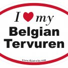 Belgian Tervuren Oval Car Sticker