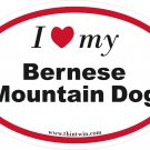 Bermese Mountain Dog Oval Car Sticker