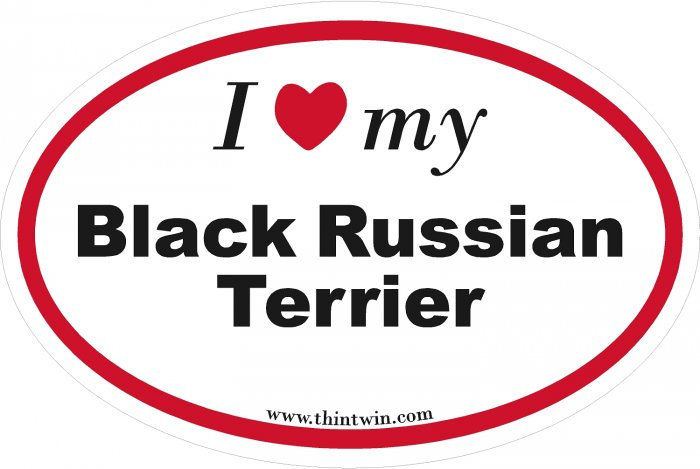 Black Russian Terrier Oval Car Sticker