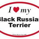 Black Russian Terrier Oval Car Sticker