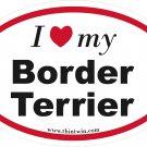 Border Terrier Oval Car Sticker
