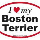 Boston Terrier Oval Car Sticker