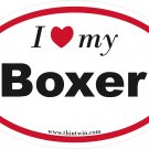 Boxers Oval Car Sticker