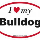 Bulldog Oval Car Sticker