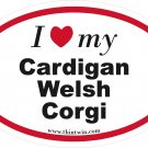 Cardigan Welsh Corgi Oval Car Sticker