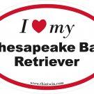 Chesapeake Bay Retriever Oval Car Sticker