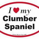 Clumber Spaniel Oval Car Sticker
