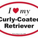 Curly Coated Retriever Oval Car Sticker