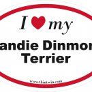 Dandie Dinmont Terrier Oval Car Sticker
