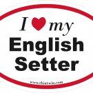 English Setter Oval Car Sticker