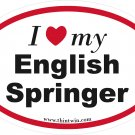 English Springer Oval Car Sticker