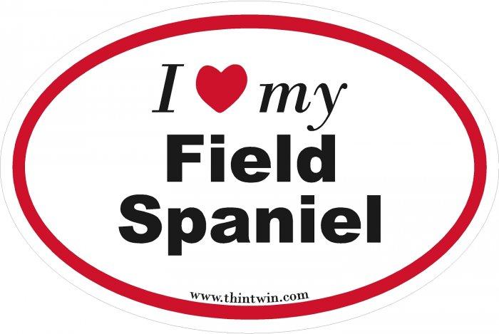 Field Spaniel Oval Car Sticker