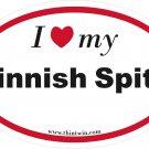 Finnish Spitz Oval Car Sticker