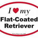 Flat Coated Retriever Oval Car Sticker