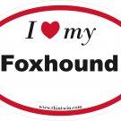Foxhound Oval Car Sticker