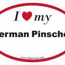 German Pinscher Oval Car Sticker