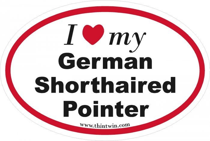 German Shorthaired Pointer Oval Car Sticker