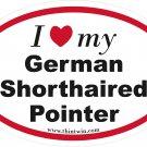 German Shorthaired Pointer Oval Car Sticker