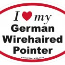 German Wirehaired Pointer Oval Car Sticker