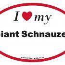 Giant Schnauzer Oval Car Sticker