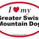 Great Swiss Mountain Dog Oval Car Sticker