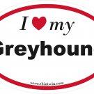 Greyhound Oval Car Sticker