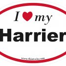Harrier Oval Car Sticker