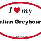Italian Greyhound Oval Car Sticker