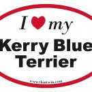 Kerry Blue Terrier Oval Car Sticker
