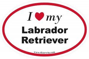 Labrador Retriever Oval Car Sticker