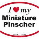Miniature Pinscher Oval Car Sticker