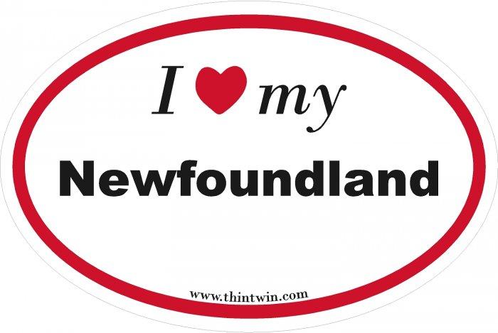 Newfoundland Oval Car Sticker